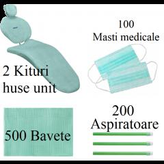 500 BAVETE PREMIUM + 200 ASPIRATOARE +2 KITURI HUSE UNIT+ 100 MASTI - VERDE