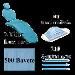 500 BAVETE PREMIUM + 200 ASPIRATOARE + 2 KITURI HUSE UNIT + 100 MASTI - ALBASTRU