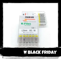 Ace Ni-Ti K-files 08 25mm Premium