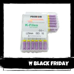 Ace Ni-Ti K-files 10 25mm Premium