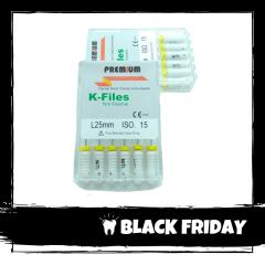 Ace Ni-Ti K-files 15 25mm Premium