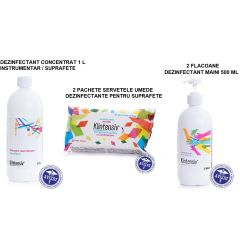 Solutii profesionale omologate pentru dezinfectare maini, suprafete si instrumentar KLINTENSIV